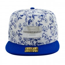 BONE ABA RETA SNAP FLORAL BLUE GOLD SERIES