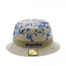 CHAPEU BUCKET HAT FLORAL BLUE