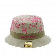 CHAPEU YOUNG MONEY BUCKET HAT FLORAL PINK