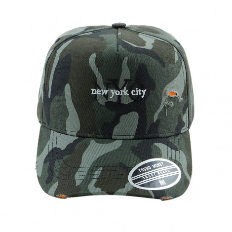 BONE ABA CURVA YOUNG MONEY STRAPBACK YME3116 NEW YORK CITY CAMUFLADO