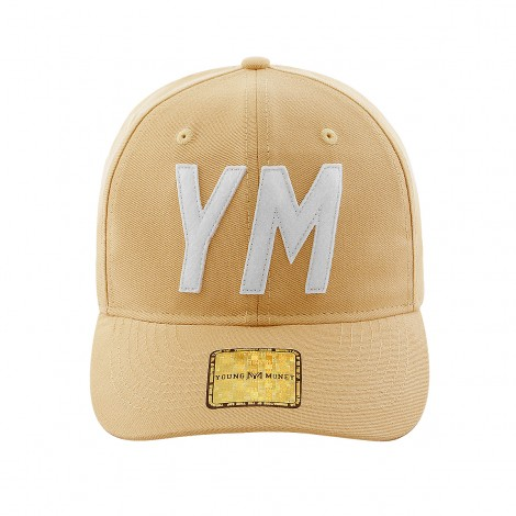 BONE ABA RETA YOUNG MONEY SNAPBACK DAD HAT YM WHITE