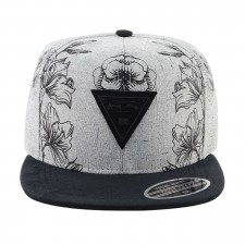 BONE ABA RETA YOUNG MONEY SNAPBACK FLORAL CINZA